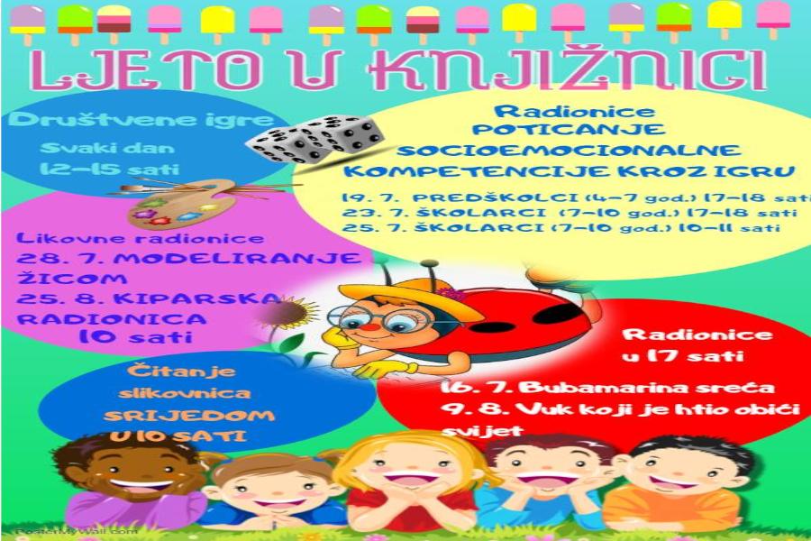 Ljetni program za djecu u Gradskoj knjižnici i čitaonici Đakovo