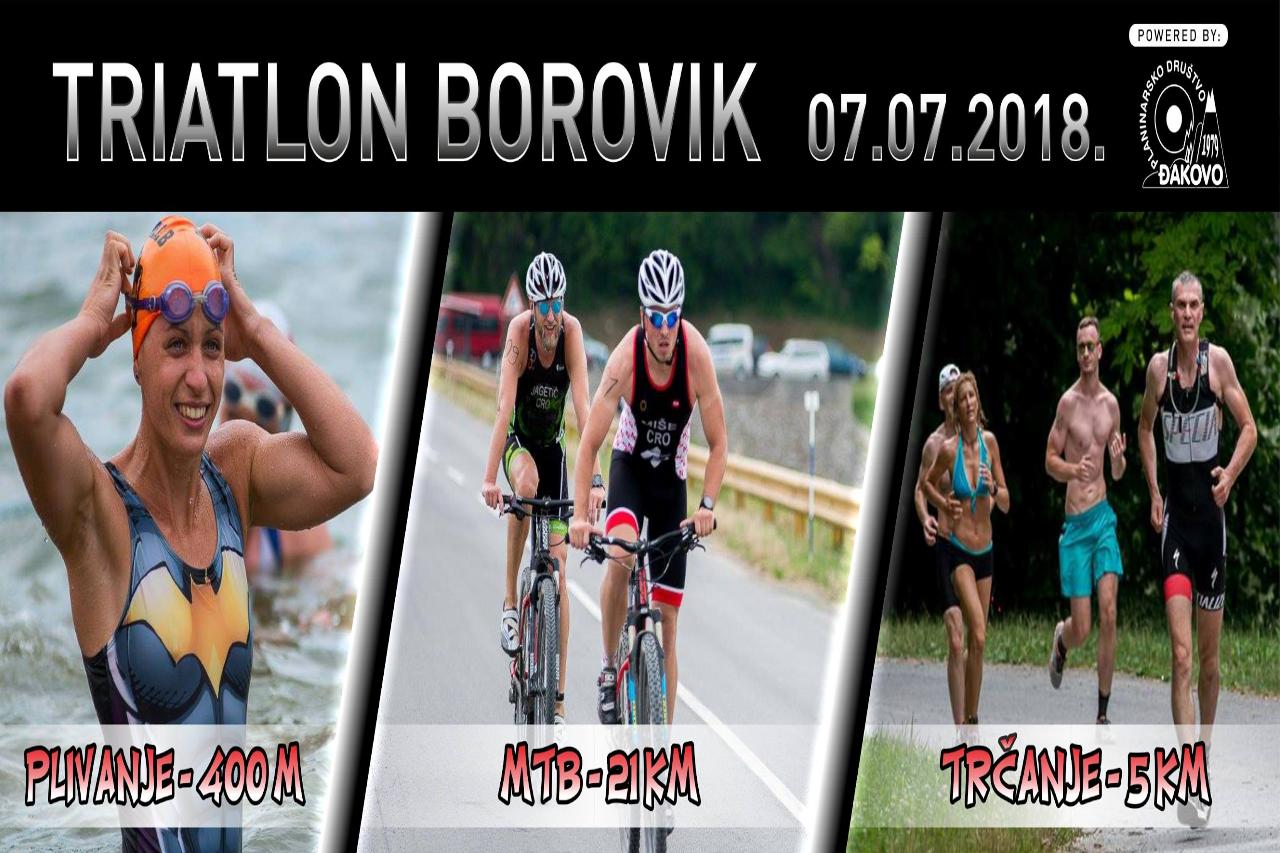 Amaterski triatlon na Boroviku u subotu 7. srpnja