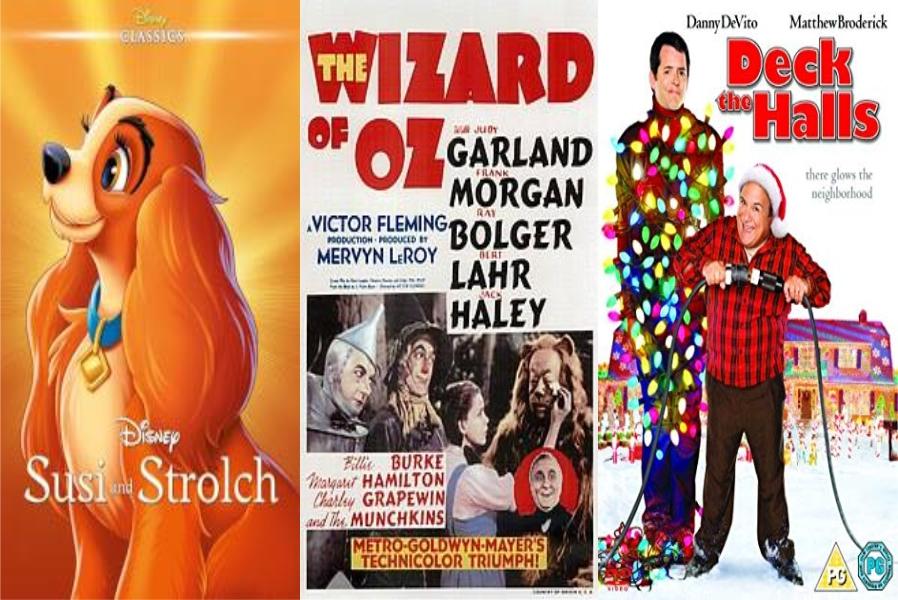 Dama i skitnica, Čarobnjak iz Oza i Bitka za Božić u Božićnoj kinoteci