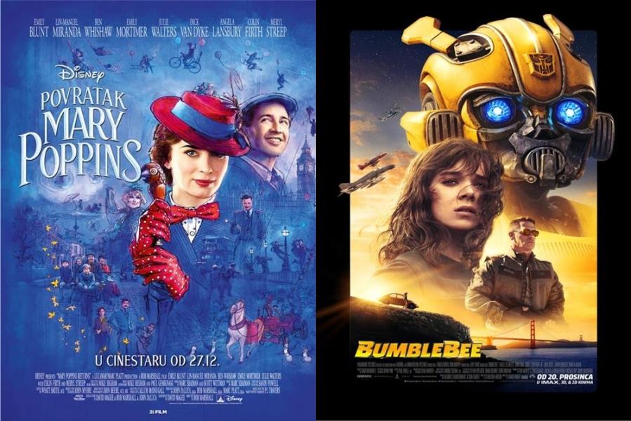 "U kinu ovog petka ""Povratak Mary Poppins"" i ""Bumblebee"""