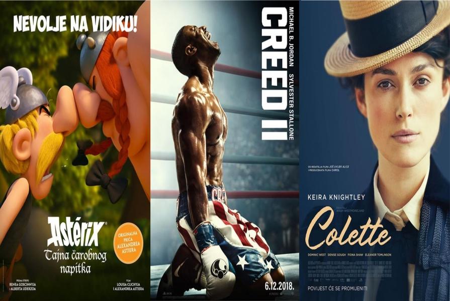 Asterix, Creed II i Colette ovoga vikenda u Centru za kulturu