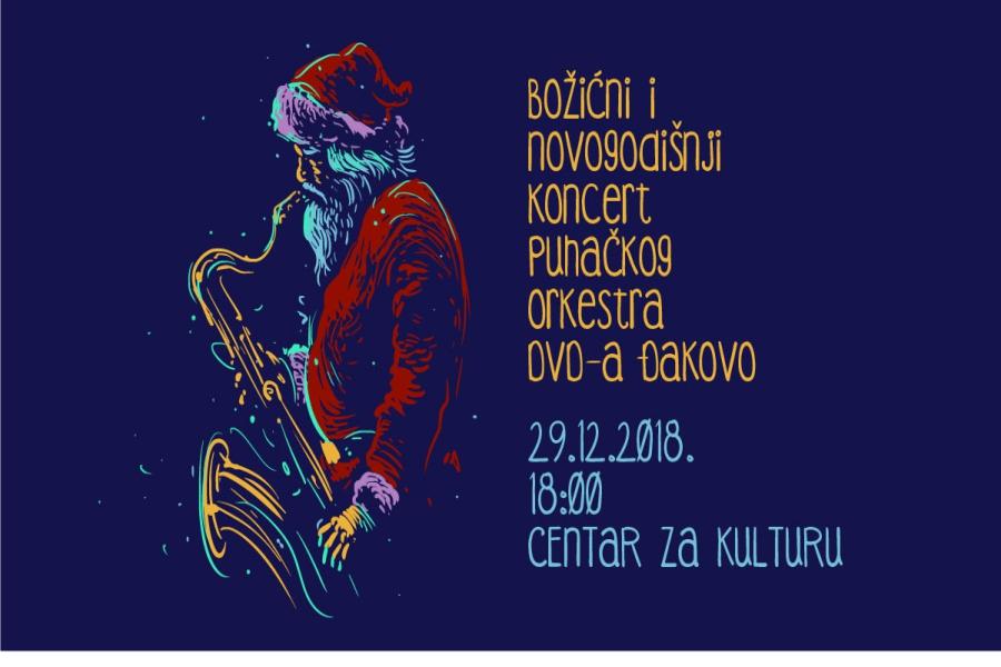 Božićni i novogodišnji koncert Puhačkog orkestra DVD-a Đakovo