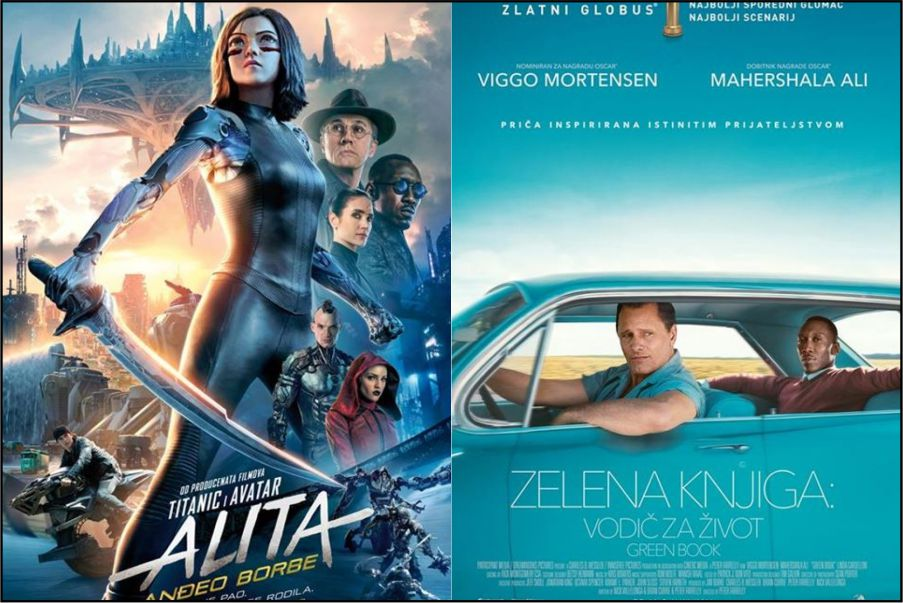 Kino: Alita: Anđeo borbe (2D i 3D) i Zelena knjiga: Vodič za život