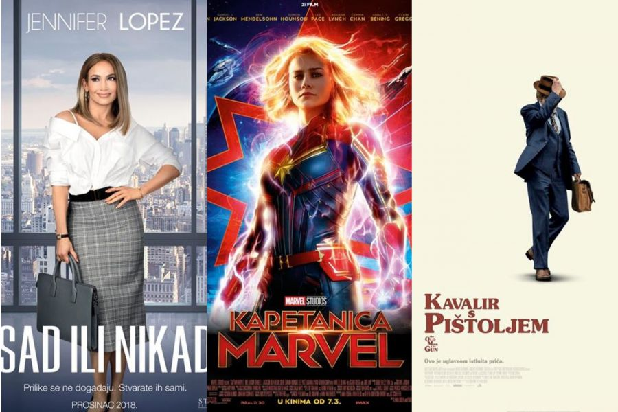 Kino: Sad ili nikad, Kapetanica Marvel (2D i 3D) i Kavalir s pištoljem