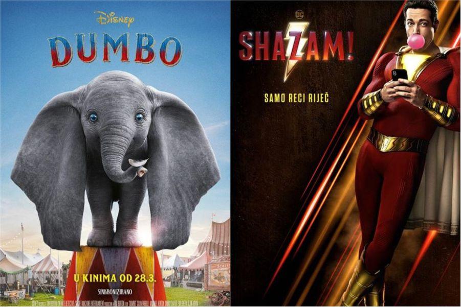 U kinu: Dumbo (2D i 3D) i Shazam!