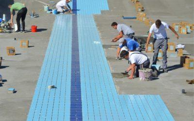 Počelo postavljanje pločica u olimpijskom bazenu