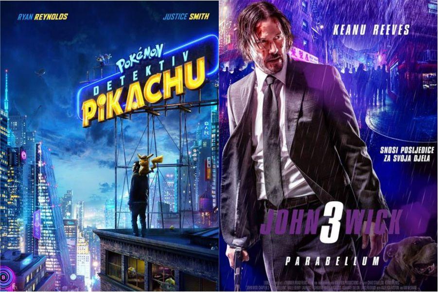 U kinu: Pokemon detektiv Pikachu (2D i 3D) i John Wick 3: Parabellum