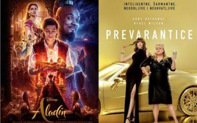 U kinu: Aladin (2D i 3D) i Prevarantice