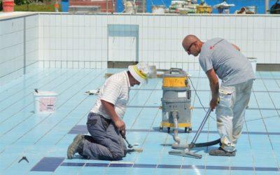 Završni radovi u olimpijskom bazenu