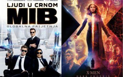 U kinu: Ljudi u crnom: Globalna prijetnja (2D i 3D) i X – Men: Dark Phoenix (2D i 3D)