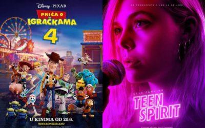 U kinu: Priča o igračkama 4 (2D i 3D sinkronizirano) i Teen Spirit