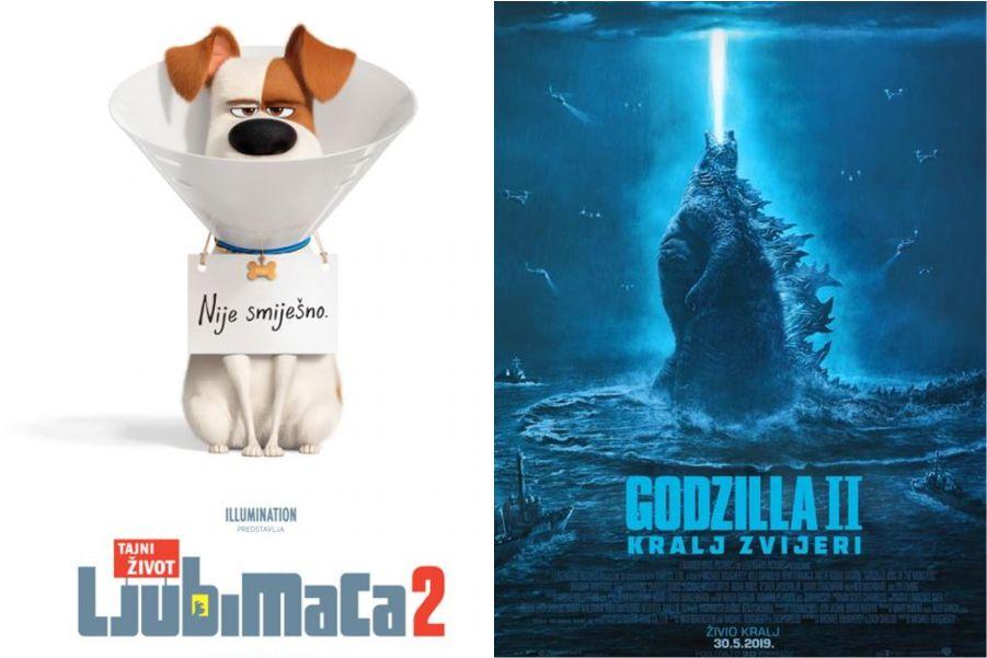U kinu: Tajni život ljubimaca 2 – sinkronizirano i Godzilla II: Kralj zvijeri (2D i 3D)