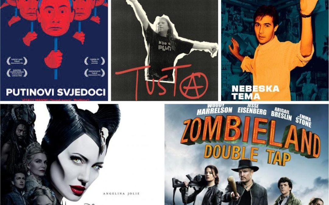 U kinu: Putinovi svjedoci, Tusta, Nebeska tema, Gospodarica zla 2 i Povratak u zemlju zombija