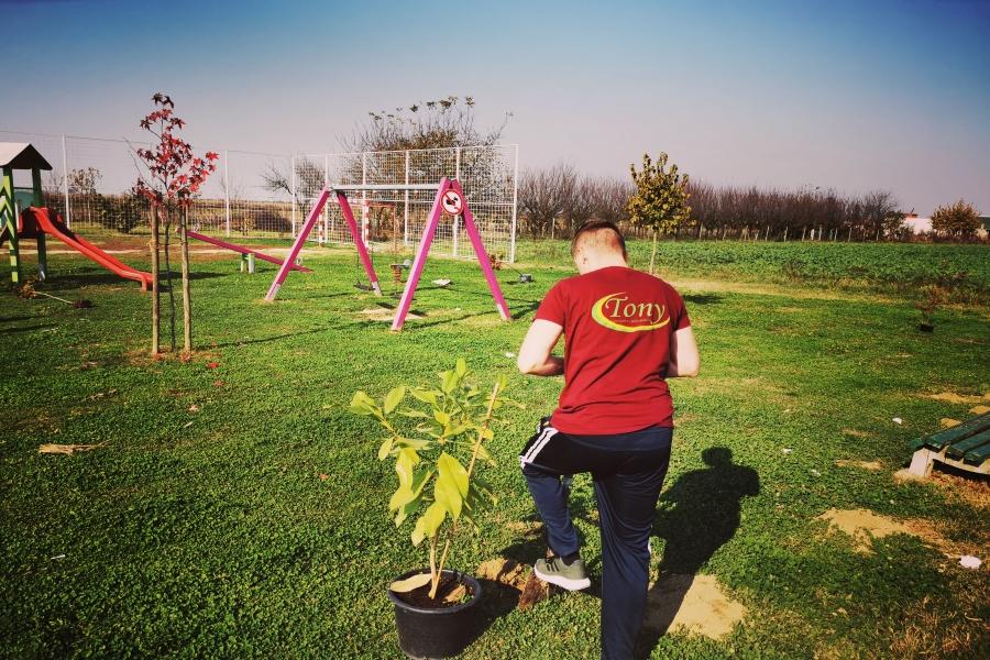 Đakovački poduzetnici  posadili stabla na igralištu u Dračicama