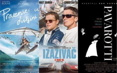 U kinu: Praznici u divljini, Izazivač: Le Mans 66. i Pavarotti