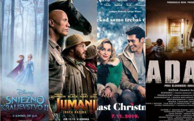 U kinu: Snježno kraljevstvo 2, Jumanji: Iduća razina (3D), Last Christmas i Adam
