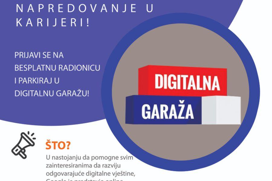 Digitalna garaža – besplatna radionica i savjetovanje iz digitalnog marketinga