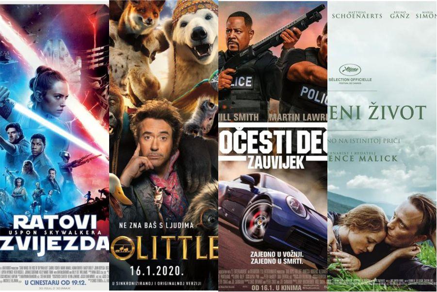 U kinu: Ratovi Zvijezda: Uspon Skywalkera, Dolittle, Zločesti dečki zauvijek i Skriveni život