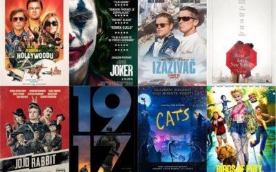 U kinu: Bilo jednom u Hollywoodu, Joker, Izazivač: Le Mans 66, Jojo Rabbit, Kišni dan u New Yorku, 1917, Cats i Birds of prey