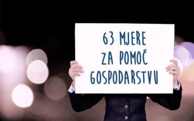 63 mjere za pomoć gospodarstvu uslijed epidemije koronavirusa