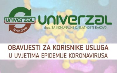 Univerzal – obavijest za građane