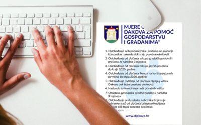 Mjere Grada Đakova za pomoć gospodarstvu