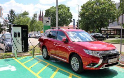 Punionica za vozila na električnu energiju u funkciji