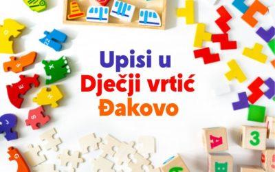 Upis djece u Dječji vrtić Đakovo za 2020./2021. pedagošku godinu