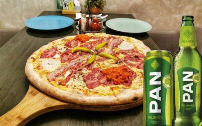 Pizzeria Slavonija u suradnji s Pan pivovarom poklanja više od 200 limenki Pan Pilsner piva