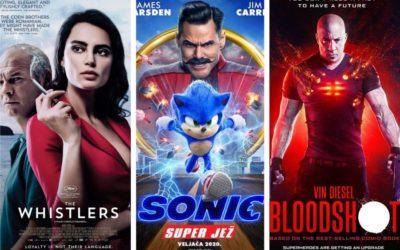 U kinu: Zviždači, Sonic: Super Jež i Bloodshot