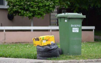 Koji su prihvatljivi spremnici za miješani otpad?
