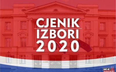 Cjenik za promidžbu – Parlamentarni izbori 2020