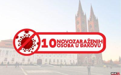 10 novozaraženih osoba na području Đakova