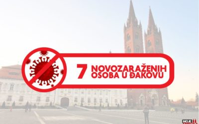 Sedam novozaraženih u Đakovu; 108 u županiji; troje preminulih