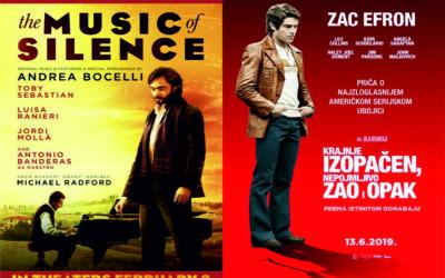 """Ljetno kino: """"Glazba tišine"""" i """"Krajnje izopačen, nepojmljivo zao i opak"""""""