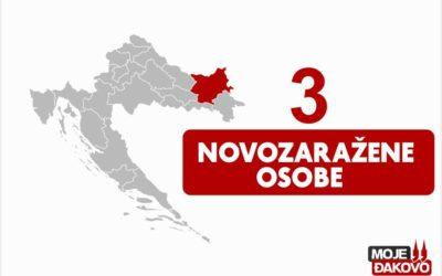 Tri novooboljele osobe na području županije