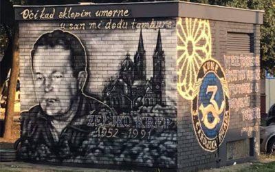 Napravljen mural poginulom branitelju Željku Krepu