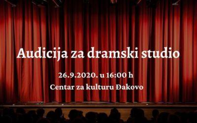 Audicija za nove članove dramskog studija