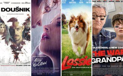 U kinu: Doušnik, Poslije svega: Sudar, Lassie se vraća kući i Rat u kući
