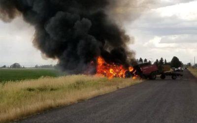 Zapalio se traktor tijekom obavljanja poljoprivrednih radova