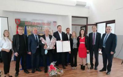 Potpisan Sporazum o suradnji i prijateljstvu između Grada Đakova i Grada Vrlike