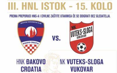 Prijenos utakmice HNK Đakovo Croatia – NK Vuteks Sloga