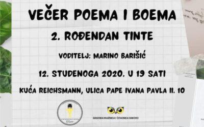 Večer poema i boema – 2. rođendan Tinte