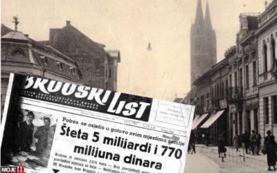 Potresi u Đakovštini stvarali su probleme u povijesti