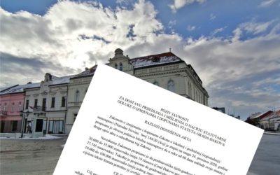 Poziv javnosti za dostavu prijedloga i mišljenja o nacrtu statutarne odluke o izmjenama i dopunama Statuta