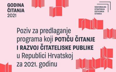 Objavljen Javni poziv za predlaganje programa koji potiču čitanje i razvoj čitateljske publike
