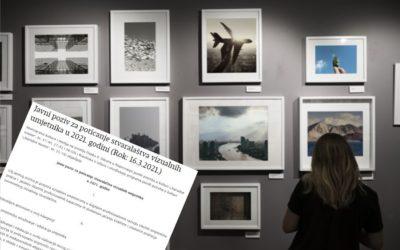 Objavljen Javni poziv za poticanje stvaralaštva vizualnih umjetnika u 2021. godini