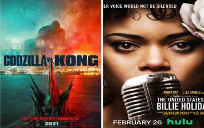 U kinu: Godzilla vs. Kong i Sjedinjene Države protiv Billie Holiday