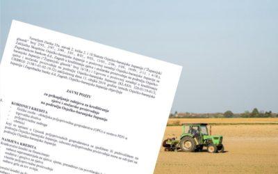 Županija objavila Javni poziv za prikupljanje zahtjeva za kreditiranje sjetve i stočarske proizvodnje
