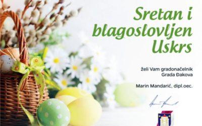 Uskrsna čestitka gradonačelnika Marina Mandarića